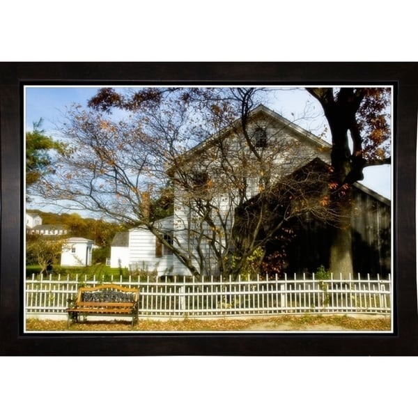 """Country Fence-HARBUI62479 Print 12.75""""x18.75"""" by Harold Silverman - Buildings & Cityscapes"""