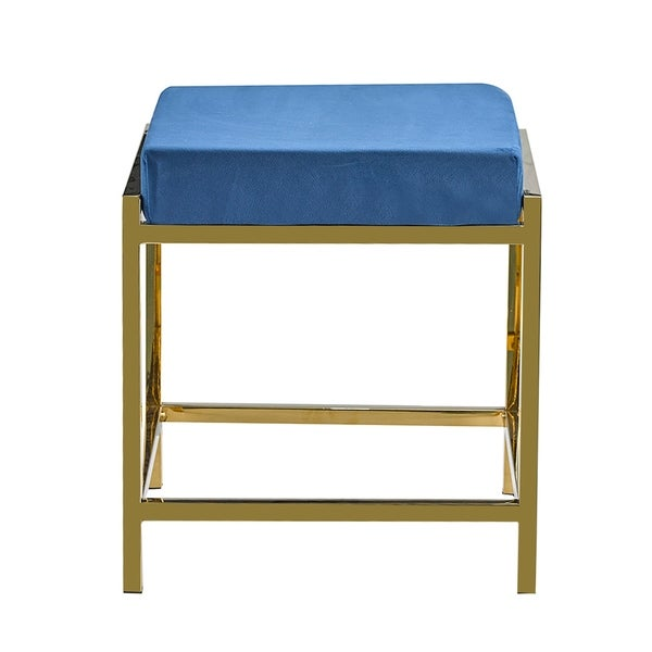 Porthos Home Kes Accent Bench/Stool, Gold Stainless Steel & Suede. Opens flyout.