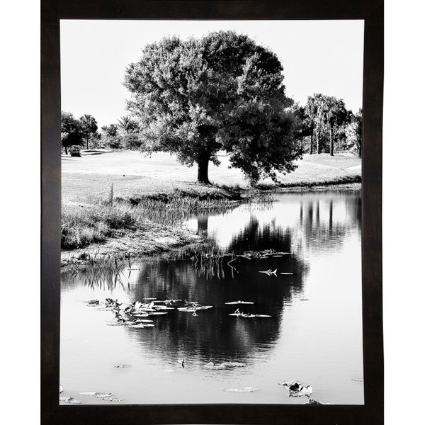 "Reflections Of Water Design-HARTRE89210 Print 20""x16"" by Harold Silverman - Trees & Old Fences"