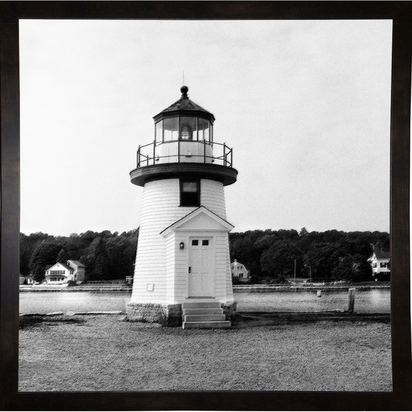 "Local Lighthouse B& W-HARBEA66959 Print 20""x20"" by Harold Silverman - Beach, Palms & Lighthouses"