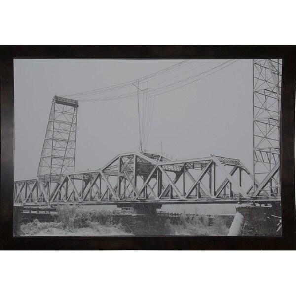 "Livingston Avenue Bridge-IANTOR118400 Print 14.5""x21.5"" by Ian Tornquist"
