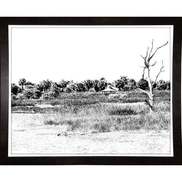 "Water, Tree, And Walkway-HARLAN85594 Print 16.25""x20.25"" by Harold Silverman - Landscapes"
