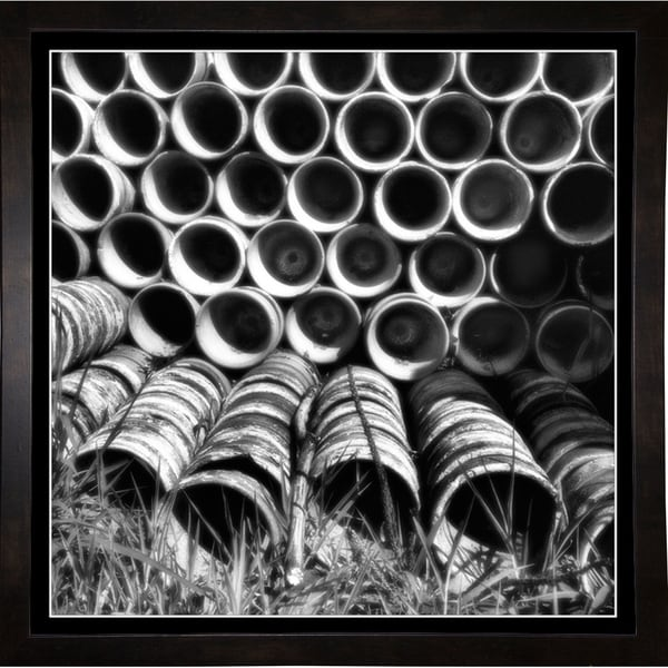 "Flower Pot Design-HARMSC75658 Print 21.75""x21.75"" by Harold Silverman - Msc."