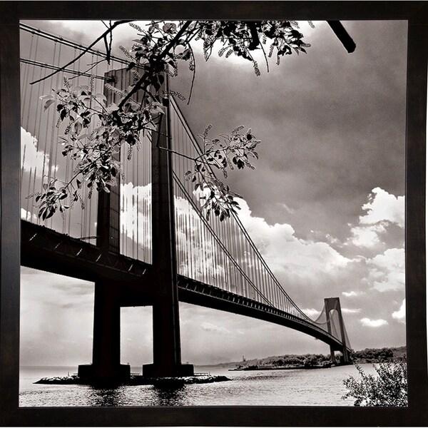 "Verrazano Bridge 2-HARBUI68954 Print 12""x12"" by Harold Silverman - Buildings & Cityscapes"