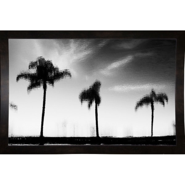 "Misty Water Reflection-HARBEA68972 Print 16""x25"" by Harold Silverman - Beach, Palms & Lighthouses"