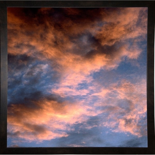 "Red Sunrise Sky-HARMSC78011 Print 20.25""x20.25"" by Harold Silverman - Msc."