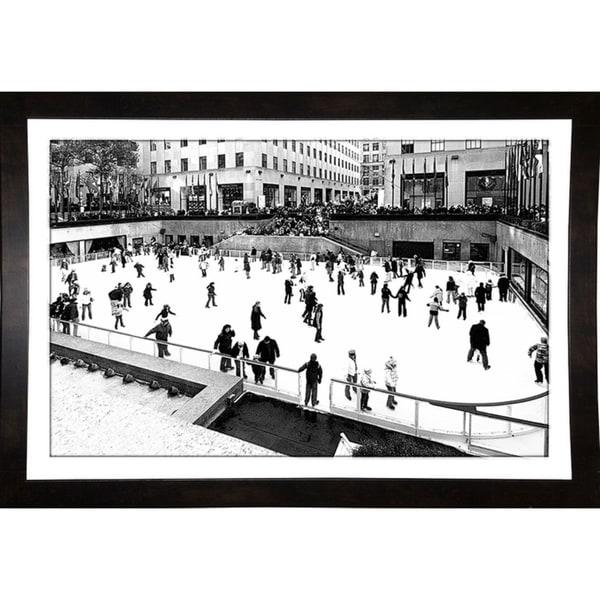 """Skating At Rockefeller Rink Nyc -HARBUI86776 Print 13.5""""x20"""" by Harold Silverman - Buildings & Cityscapes"""