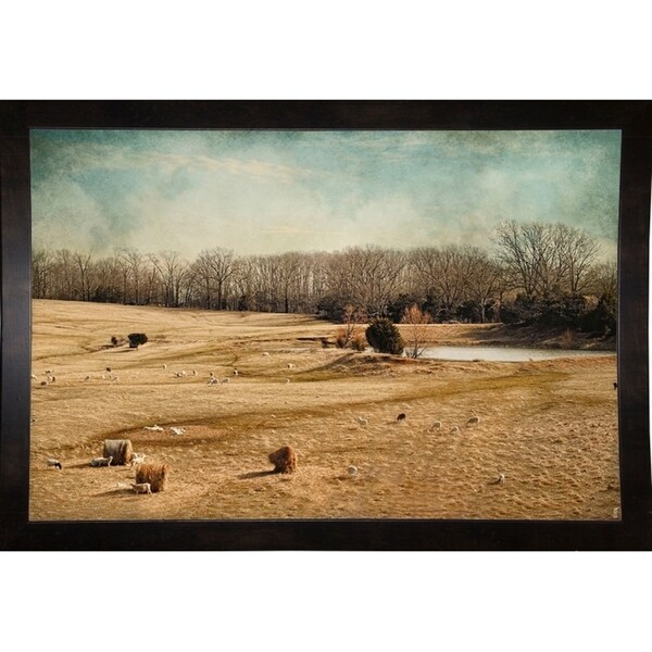 "Sheep In The Meadow-JAIJOH140099 Print 13.25""x20"" by Jai Johnson"