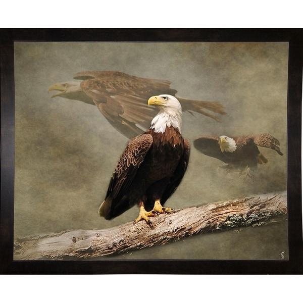 "Dreaming Of Freedom Bald Eagles-JAIJOH139732 Print 10.75""x13.25"" by Jai Johnson"