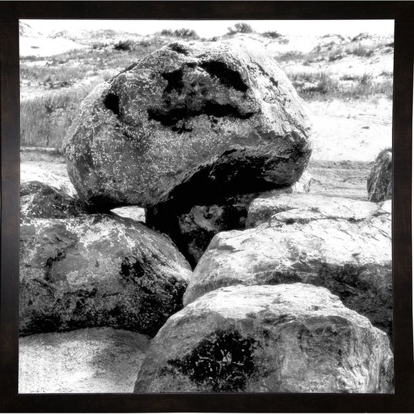 "Boulders At The Sea-HARBEA77993 Print 20""x20"" by Harold Silverman - Beach, Palms & Lighthouses"