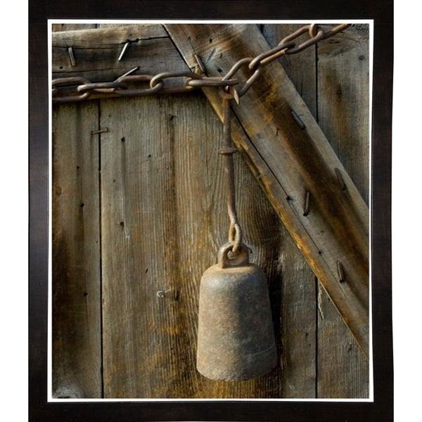 "Cow Bell On A Link Chain-HARMSC90061 Print 13""x11"" by Harold Silverman - Msc."