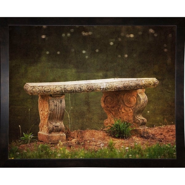 "Waterside Bench-JAIJOH140155 Print 10.75""x13.25"" by Jai Johnson"