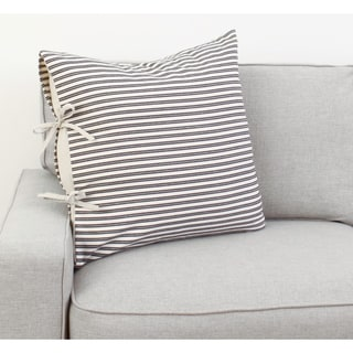 Thro 22x22Tina Ticking Stripe Tie Pillow