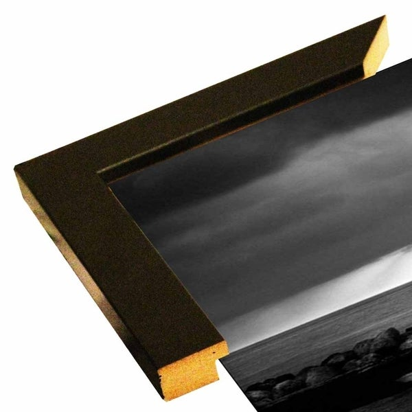 "Sunrise B/W-HARBEA66991 Print 11.25""x21.75"" by Harold Silverman - Beach, Palms & Lighthouses"