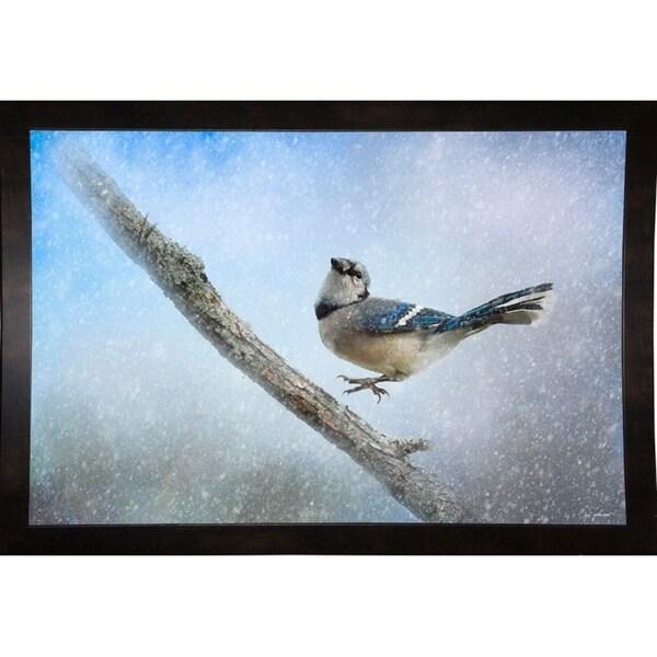 "Bluejay In The Snow-JAIJOH140325 Print 13.25""x20"" by Jai Johnson"