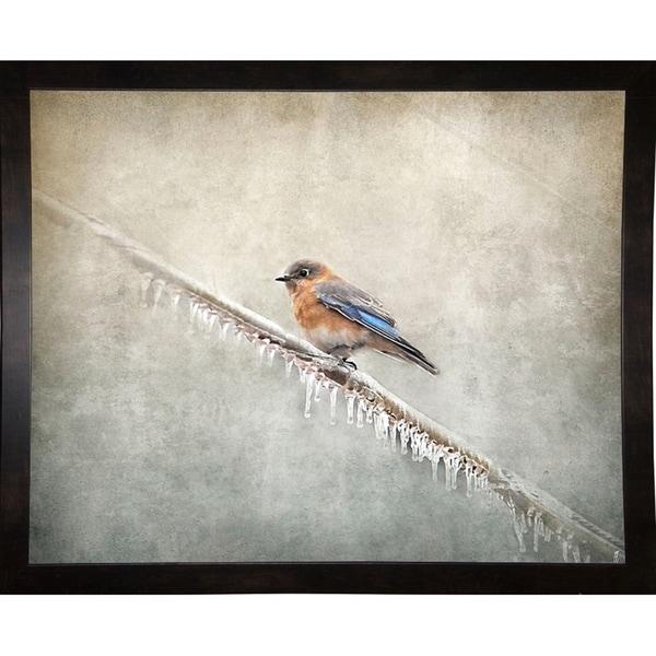"Bluebird Braving The Cold-JAIJOH139688 Print 10.75""x13.25"" by Jai Johnson"
