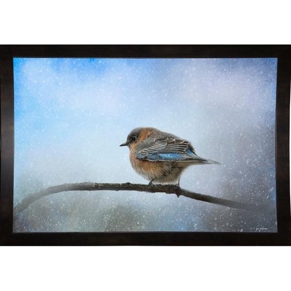 "Bluebird In The Snow-JAIJOH140324 Print 13.25""x20"" by Jai Johnson"