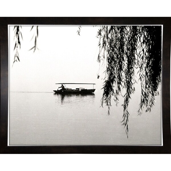"Hongzhou Lake Boatman-HARBOA50363 Print 12""x15.25"" by Harold Silverman - Boats"