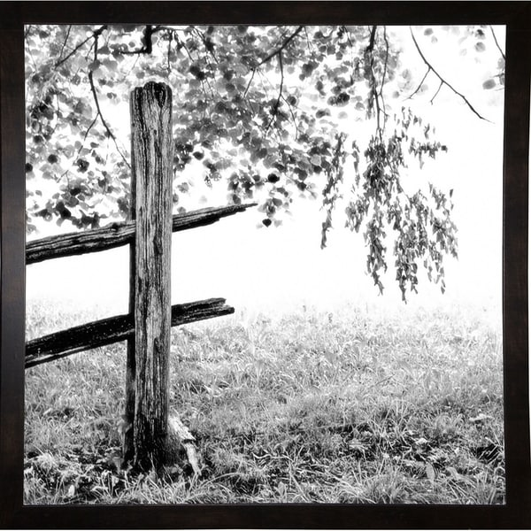 """End Of The Fence-HARTRE68991 Print 18.25""""x18.25"""" by Harold Silverman - Trees & Old Fences"""
