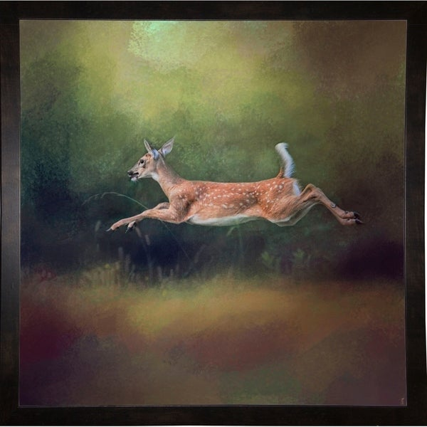 "I Can Fly White Tailed Fawn-JAIJOH139785 Print 20""x20"" by Jai Johnson"