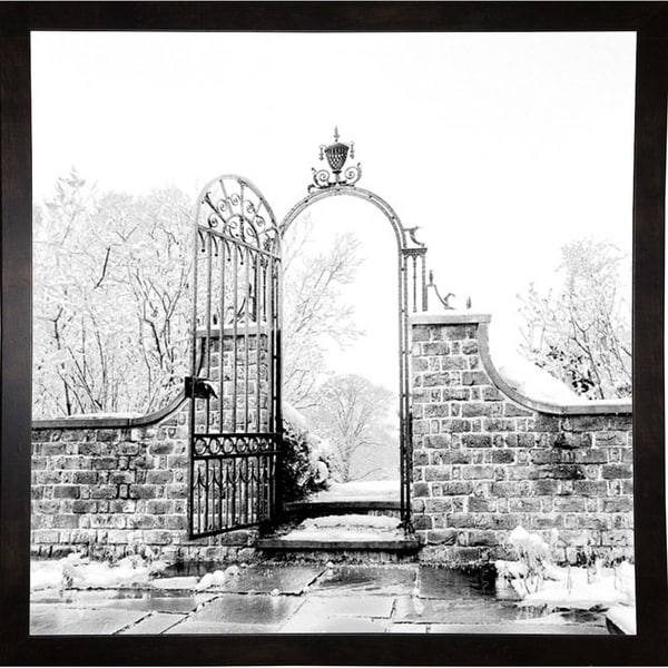 """Iron Door And Snow-HARBUI50312 Print 20.5""""x20.5"""" by Harold Silverman - Buildings & Cityscapes"""
