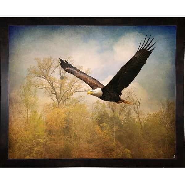 "Monarch Of The Skies Bald Eagle-JAIJOH139822 Print 10.75""x13.25"" by Jai Johnson"