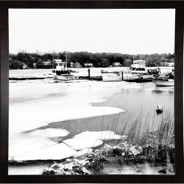 "Ice Flow And Boats-HARBOA74268 Print 20""x20"" by Harold Silverman - Boats"