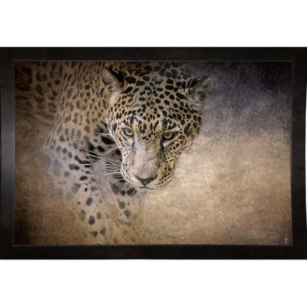 "Stalking Her Prey Leopard-JAIJOH139903 Print 13.25""x20"" by Jai Johnson"