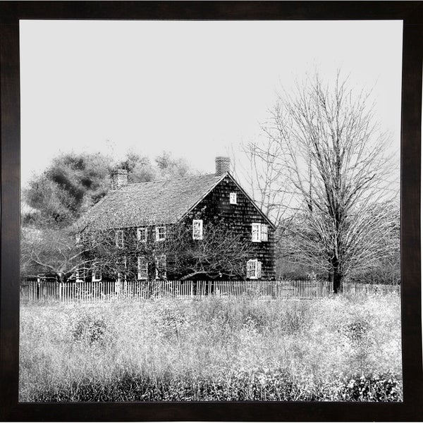 "House In Field-HARBUI78967 Print 20""x20"" by Harold Silverman - Buildings & Cityscapes"