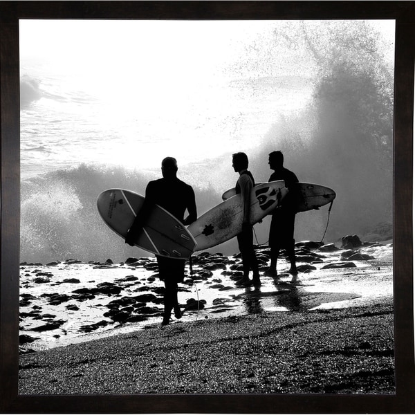"""The Surfers-HARBEA74712 Print 7""""x7"""" by Harold Silverman - Beach, Palms & Lighthouses"""