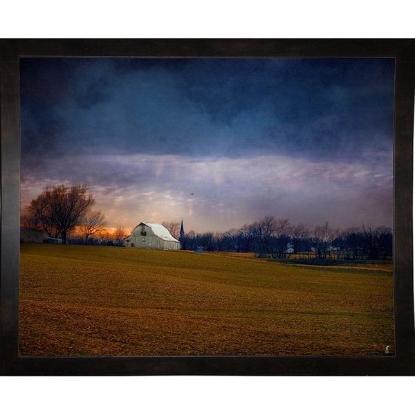 """Missouri Barn At Sunset-JAIJOH140065 Print 10.75""""x13.25"""" by Jai Johnson"""
