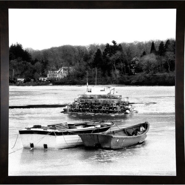 "Winter Ice-HARBOA74269 Print 20""x20"" by Harold Silverman - Boats"