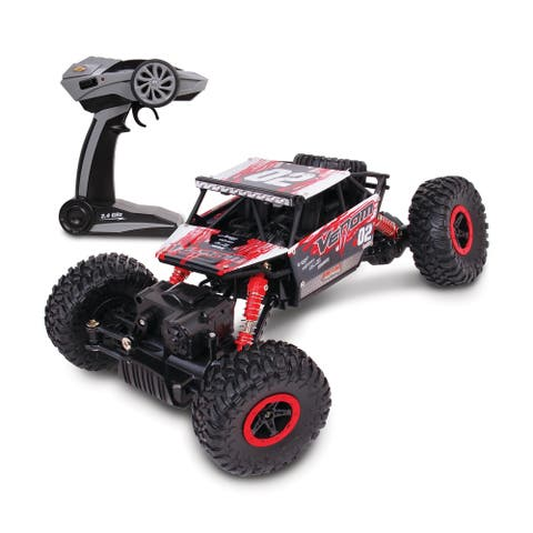 NKOK Mean Machines 1:16 Scale Radio Controlled Rock Crawler Venom (RC) (Red)