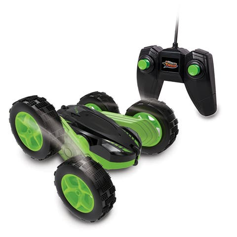 NKOK Stunt Twisterz RC Tornado Twister Remote Control Toy - Colors Vary (Green/Yellow)