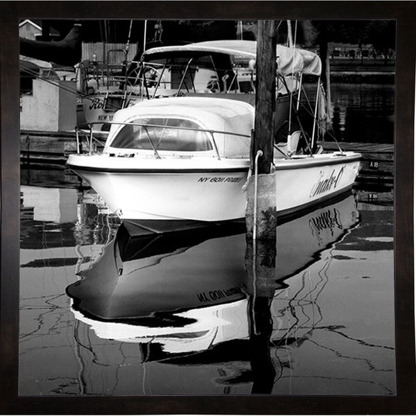 """Boat Dock With Reflection-HARBOA71230 Print 20""""x20"""" by Harold Silverman - Boats"""