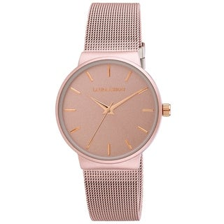 Laura Ashley Pink GoldMinimalist Mesh Watch
