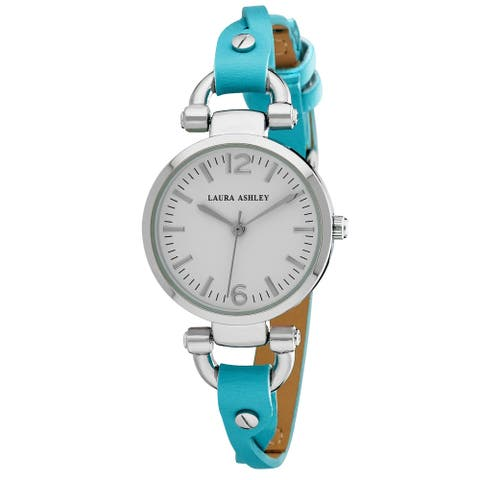 Laura Ashley Blue Ladies Dial Analog Display Twisted Band Round Watch