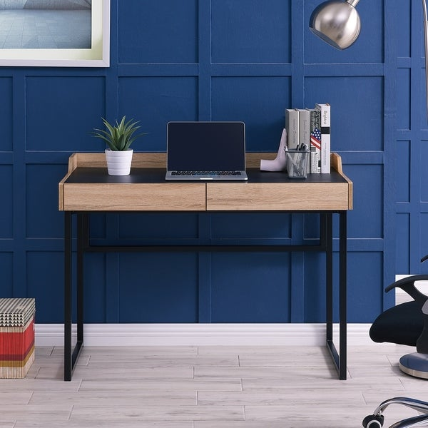 Carbon Loft Meadmore Writing Desk With Storage Drawers by Carbon Loft