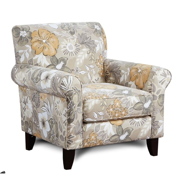 Shop Bahenga Twine Beige Fabric Upholstered Accent Chair