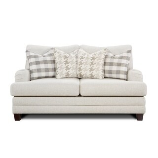 Basic Off-white Wool Farmhouse-style Loveseat