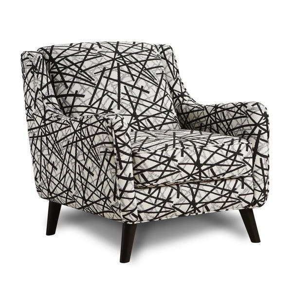 Gemma Zebra Animal Print Modern Accent Chair