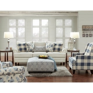 Link to Yucatan Indigo Buffalo Check Accent Chair Similar Items in Living Room Chairs