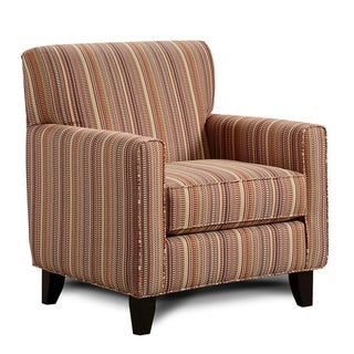 Link to Silvester Fireside Stripe Accent Chair Similar Items in Living Room Chairs