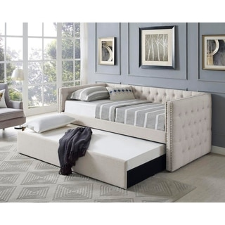 Link to Best Master Furniture Tufted Twin Day Bed with Trundle Similar Items in Bedroom Furniture