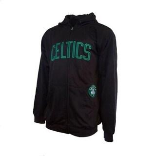 Majestic Mens Boston Celtics Delay Full Zip Poly Fleece Hoodie