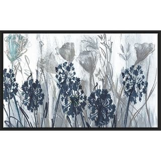 """Indigo Field"" by Susan Jill Print on Canvas in Floating Frame - Blue"