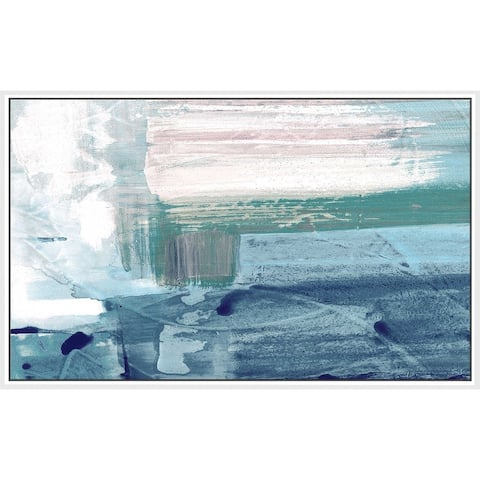 """""""Miss The Sea IV"""" by Susan Jill Print on Canvas in Floating Frame - Blue"""