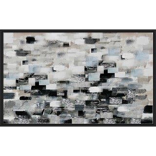"""""""Reflections"""" by Susan Jill Print on Canvas in Floating Frame - gray"""