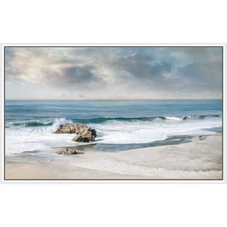"""""""A Forever Moment"""" by Mike Calascibetta Canvas in Floating Frame - Blue"""