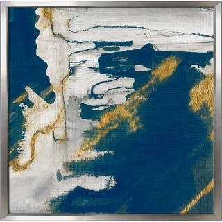"""Lapis I"" by Susan Jill Print on Canvas in Floating Frame - Blue"